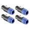 Neewer 4-Pack Cavo Head-Speaker Plug Twist Lock 4 Pole Compatibile con Neutrik Speakon NL4...