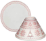 Yankee Candle - Paralume grande + piatto, in vetro, 15 cm, motivo: Mountian Holiday Red No...