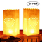 Kurtzy Lanterne di carta illuminate (20 pezzi) - Lanterne resistenti al fuoco di design a...
