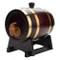 Botte di vino in legno per la conservazione del vino, botte di rovere vintage in rovere, b...