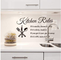 TTBH Home Decor Removable Wall Stickers Kitchen Rules Decal Home Accessories 8203 Beautifu...