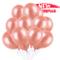 100 Pezzi Palloncini Oro Rosa per Feste, Palloncini Rosa Gold, Palloncini Festa, Palloncin...