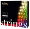 Stringa di luci controllabile tramite Smartphone con 250 LED RGB+W multicolore