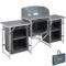 TecTake 800585 - Cucina da Campeggio Alluminio, Facile Montaggio, Minimo Peso - Modelli Di...