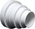 Riduttore universale per sistemi di ventilazione, diametro 80-150mm.Riduttore con tubo di...