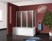Box parete vasca doccia sopravasca cm.67/68+133,pannelli da 4 ante pieghevoli