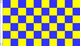 AZ FLAG Bandiera A Scacchi Gialli E Blu 150x90cm - Bandiera Scacchiera Gialla ED Azzurra 9...
