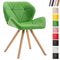 CLP Sedia Design rétro Tyler Imbottita in Similpelle - Poltroncina Deco Gambe Tonde in Leg...