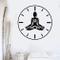 wopiaol Yoga Time Decalcomania da Muro Orologio Creativo Lotus Meditation Posa Fiore Zen A...