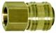"""KS Tools 515.3484 Rubinetto Rapido in Ottone con Filettatura Interna, G3/8"""" Ig, 1/4"""""""