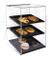 Vetrina dolci da bar porta brioches in plexiglass con vassoi Gastronorm 1/2 in melamina 34...