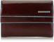 Piquadro PD1248B2 Portafoglio, Collezione Blu Square, Mogano