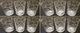 AX8 Set di 12 Bicchierini da liquore portalumini Decorati con Stelle, Ideali per Il Natale...