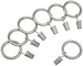 AmazonBasics - Occhielli a clip per tende, 2,54 cm, set di 7, Nichel