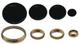 1 SERIE SPARTIFIAMMA CUCINA GAS SAMET ANELLI + PIATTINI IN OTTONE 4 PEZZI COD S 4716 + 471...