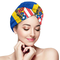 Asciugamani per capelli con bandiera americana e Moldavia Avvolgere rapidamente i bottoni...