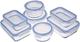 AmazonBasics - Contenitori per alimenti, in vetro, con coperchi, 14 pezzi (7 contenitori +...