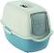 Rotho Bailey - Lettiera per gatti con coperchio, Plastica (PP) senza BPA., blu/bianco., (5...