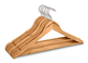Highliving Confezione da 20grucce Appendiabiti, in Legno, per Tute, Pantaloni e Indumenti