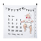 Hifot Baby Monthly Milestone coperta Bambino mensile coperta foto fotografia sfondo Prop M...