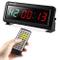 PELLOR Orologio da Parete Palestra Gym Timer, 6 Digits Orologio a Interval LED, Formato Or...