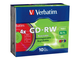 Verbatim Datalifeplus 4 x CD-RW 700 MB 10 Pack in Jewel case (94325)