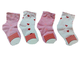 calzini 4 paia bambina Maferino tg. 3 21/22 scarpa colori rosa e bianco e rosso corti coto...