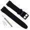 Cinturino per Swatch, impermeabile, in gomma siliconica (17mm, Nero)