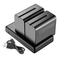Neewer 2-Pack 6600mAh Li-ion Batteria con Caricabatteria USB Ricambio per Sony NP-F550 570...