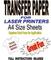 Laser & fotocopiatrici, risma T & Tessuto Transfer Paper per tessuti leggeri da 20 fogli A...