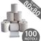 Confezione 100 Rotoli Termici mm 80x80 mt 55 gr. mq Omologati per Registratore di Cassa Ca...