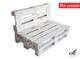 clc Divano divanetto 2 posti in Pallet EPAL per Esterni e Giardino -Made in Italy- Bianco,...