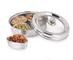Contenitore multiuso in acciaio inox con ciotole, per alimenti, spezie masala, snack, frut...