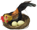Givi Ginmar Giocaci Nidi con Gallo e Gallinaper Pasqua, (Set di 6), Taglia Unica