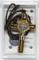 10.302.90 LACSCA croce san benedetto rettangolare in legno di ulivo con riga con collana l...