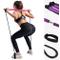 NEWMAN771Her Kit Barra di Pilates Portatile con Fascia di Resistenza per Allenamento Total...