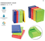 PORTA DOCUMENTI COLOR CON ELASTICO, BM confezione da 4 pezzi - scatola portaprogetti c/ela...