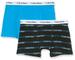 Calvin Klein 2pk Trunks Boxer, Blu (1BlueJewelGlitchStripe/1BlueJewel 0G6), 164 (Taglia Pr...