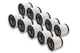 vhbw 10x filtro tondo per aspirapolvere Rowenta Collecto RB 860, RU 600, RU 601, RU 605, R...