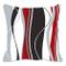 Copricuscino con strisce verticali ondulate; ideale per soggiorno, divano ecc.; colori: ro...