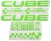 Ecoshirt CM-IML3-8FCE Adesivi Cube F177 Vinile Decal Aufkleber (MTB Stickers Bike, Verde