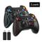 EasySMX (2 Packs Joypad pc Wireless ESM-9013 - PS3 PC Controller Gioco Joystick Senza Fili...