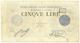 Cartamoneta.com 5 Lire Banca dello Stato PONTIFICIO Papa pio IX 1867 qBB
