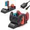 Fastsnail, caricabatterie 6 in 1 per Nintendo Switch Pro Controller e Joy-con e Poké Ball...