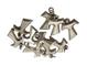 Croce Tau placcato argento. Mini Ciondolo ideale per collane, bracciali e Bomboniere fai d...