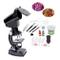 Foxom Microscopio Bambini, 20Pzs 300x - 1200x Microscopio Kit con Luce, Biologico Microsco...