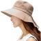 Comhats - Cappelli estivi da donna UPF 50, a tesa larga, ripiegabili, con fascia per il me...