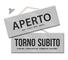 Maxi Cartello APERTO e TORNO SUBITO per negozio vetrina studio laboratorio officina botteg...