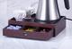 Vinn Dunn Cornwall - Organizzatore per bustine di tè in legno di mogano, vassoio di benven...