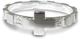 Rosario anello in argento 925 con 10 quadrati misura italiana n°18 - diametro interno mm 1...